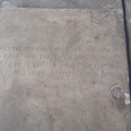 Shakespeare Gravestone inscription