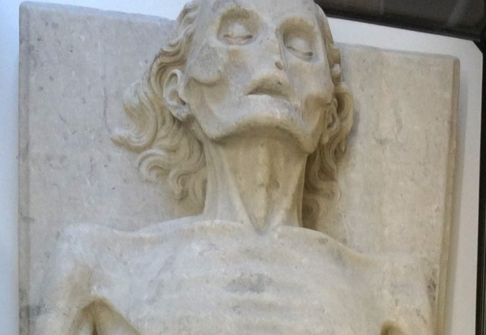 Transi tomb of Guillaume de Harcigny: detail