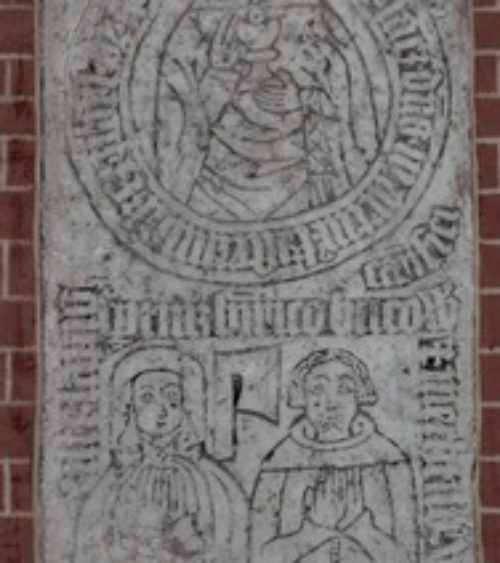 Rostock Heiligenkreuz incised slab 21 1394 1