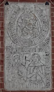 Rostock Heiligenkreuz incised slab 21 1394 1