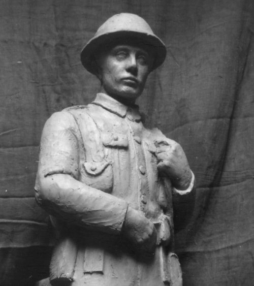 Figure 3a Monmouth soldier model front view