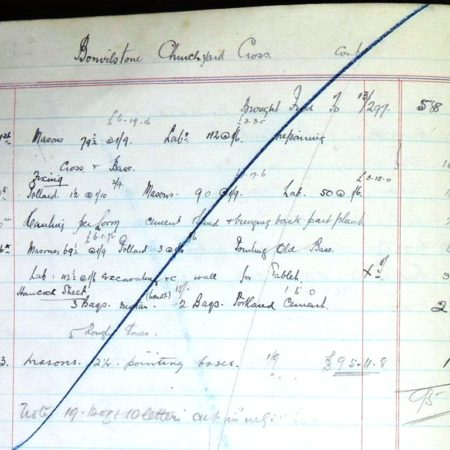 Day Book 14 page 81 Bonvilston war memorial tablet