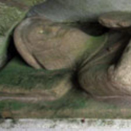A military effigy St Jamess Church Iddesleigh Devon