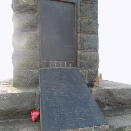 Borth war memorial inscriptions