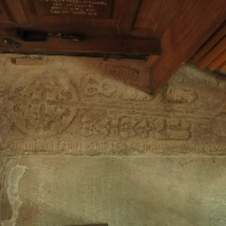 Brecon cross slab commemorating Lewis Havard d 1569 Fig 1