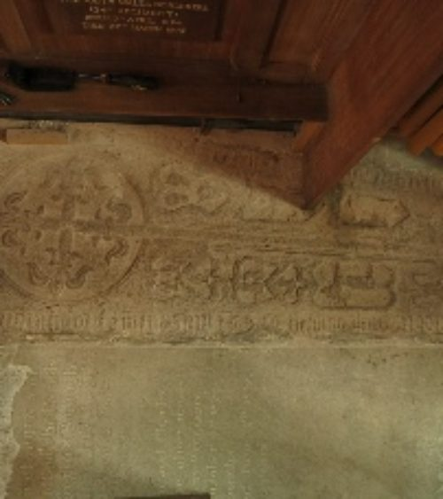 Brecon cross slab commemorating Lewis Havard d 1569 Fig 1