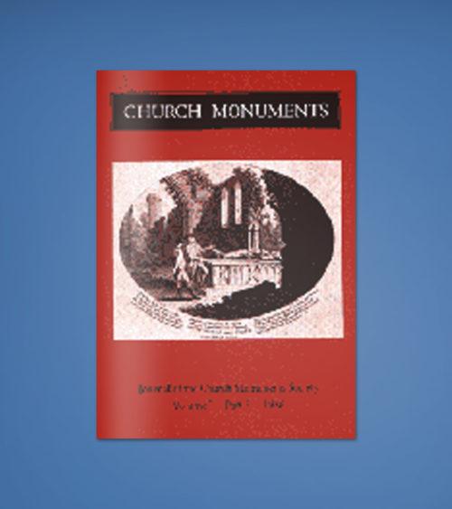 CHURCH MONUMENTS VOLUME I PART 1