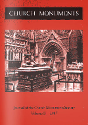 CHURCH MONUMENTS VOLUME II small