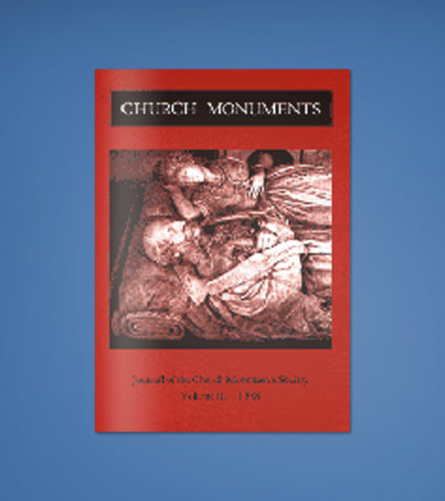 CHURCH MONUMENTS VOLUME III