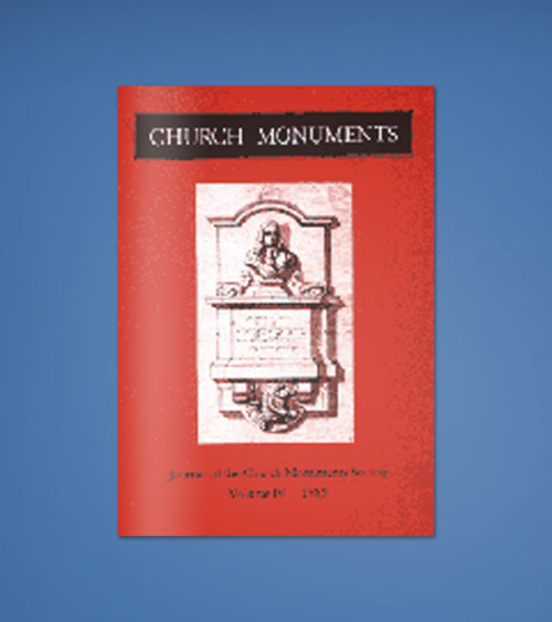 CHURCH MONUMENTS VOLUME IV