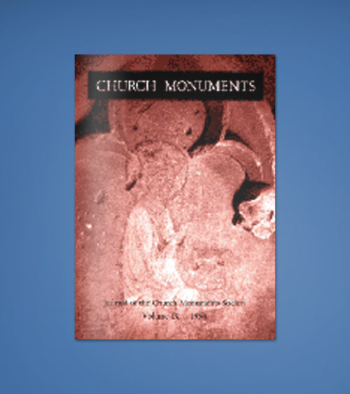 CHURCH MONUMENTS VOLUME IX