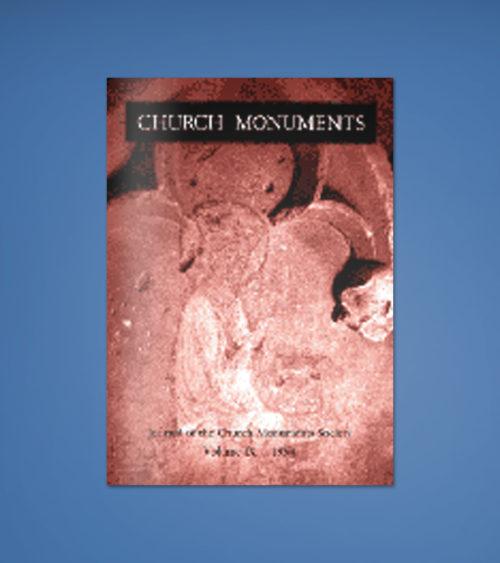 CHURCH MONUMENTS VOLUME IX