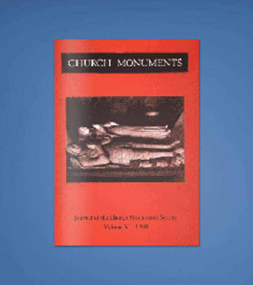 CHURCH MONUMENTS VOLUME V