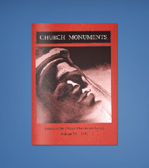 CHURCH MONUMENTS VOLUME VI