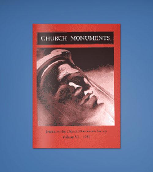 CHURCH MONUMENTS VOLUME VI