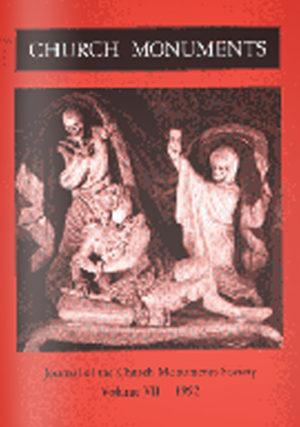 CHURCH MONUMENTS VOLUME VII small