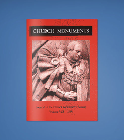 CHURCH MONUMENTS VOLUME VIII