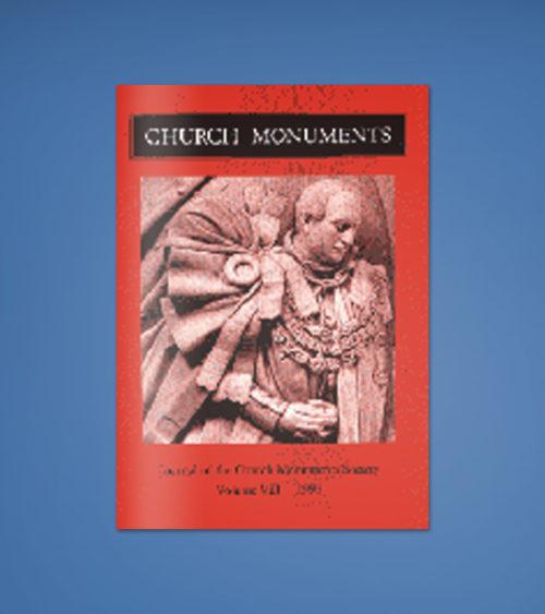 CHURCH MONUMENTS VOLUME VIII