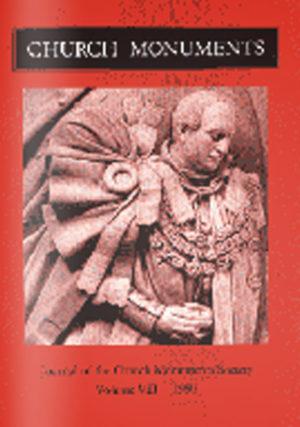 CHURCH MONUMENTS VOLUME VIII small