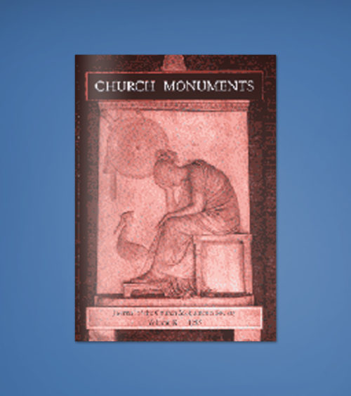 CHURCH MONUMENTS VOLUME X