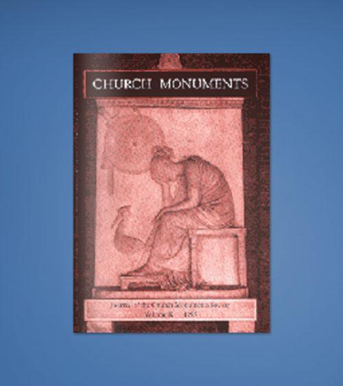 CHURCH MONUMENTS VOLUME X