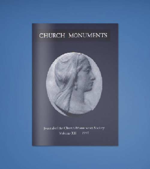 CHURCH MONUMENTS VOLUME XII