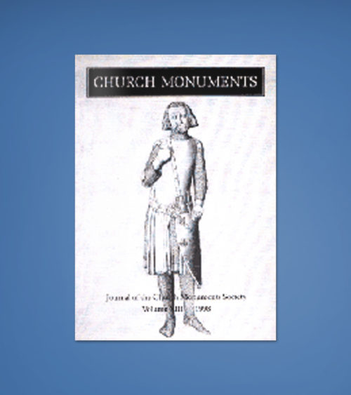 CHURCH MONUMENTS VOLUME XIII