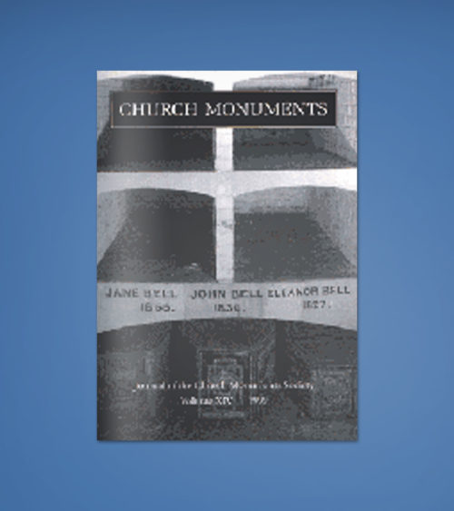 CHURCH MONUMENTS VOLUME XIV