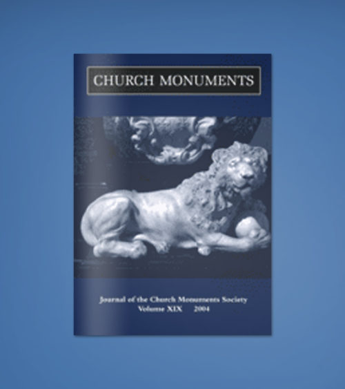 CHURCH MONUMENTS VOLUME XIX