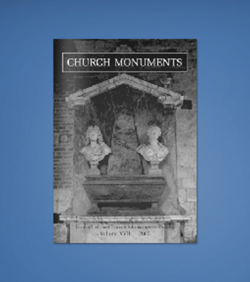 CHURCH MONUMENTS VOLUME XVII
