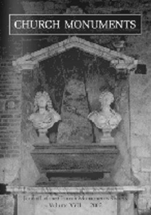 CHURCH MONUMENTS VOLUME XVII small