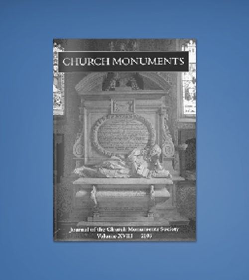CHURCH MONUMENTS VOLUME XVIII