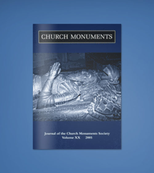 CHURCH MONUMENTS VOLUME XX