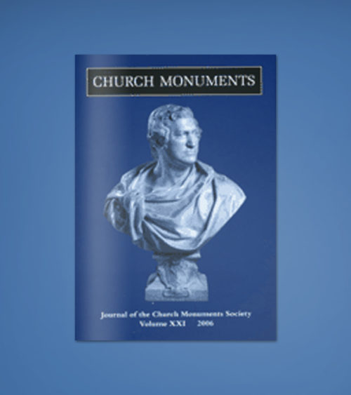 CHURCH MONUMENTS VOLUME XXI