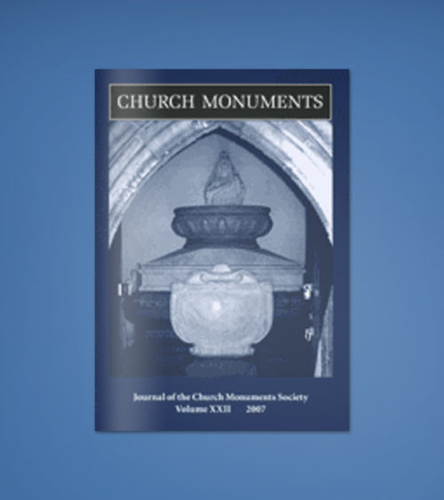 CHURCH MONUMENTS VOLUME XXII