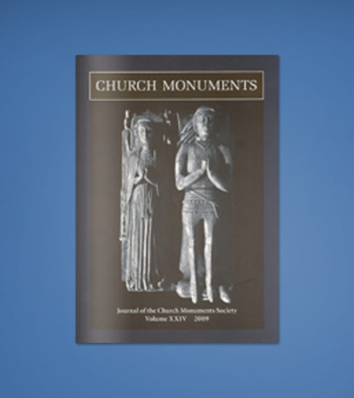 CHURCH MONUMENTS VOLUME XXIV