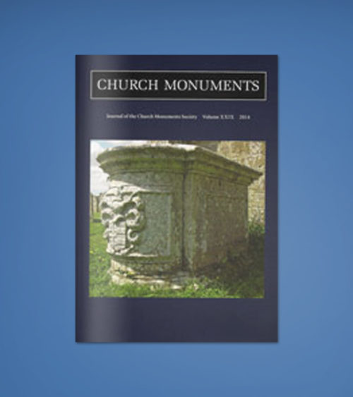 CHURCH MONUMENTS VOLUME XXIX