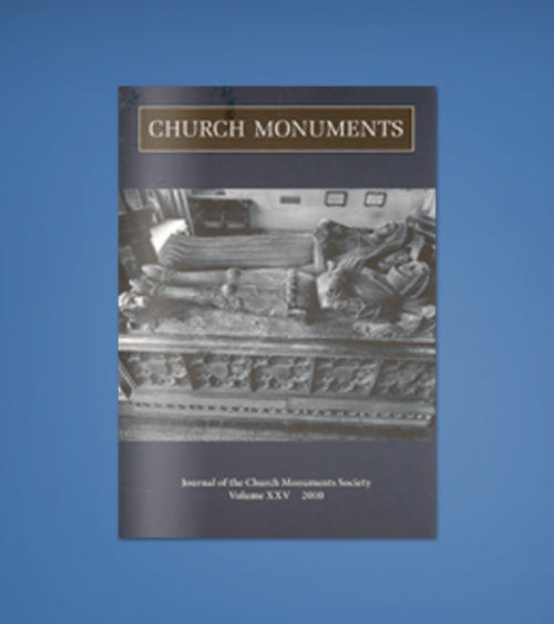 CHURCH MONUMENTS VOLUME XXV
