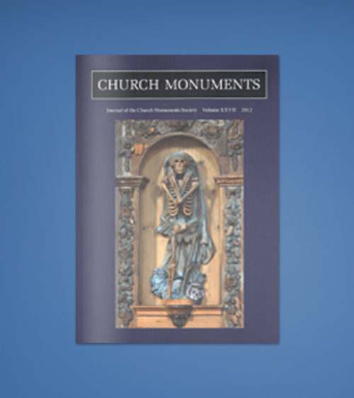 CHURCH MONUMENTS VOLUME XXVII