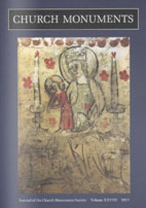 CHURCH MONUMENTS VOLUME XXVIII small