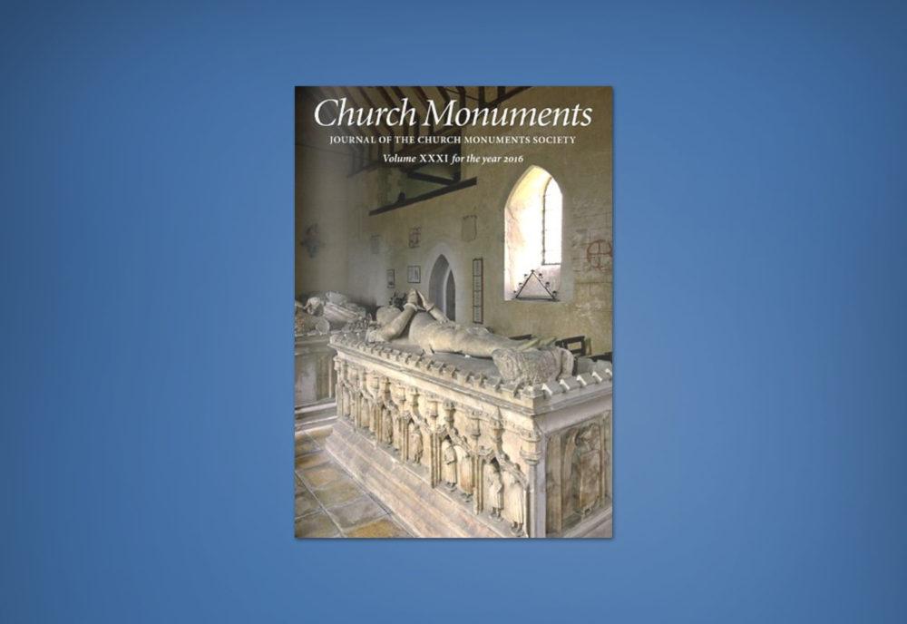 CHURCH MONUMENTS VOLUME XXXI 2016