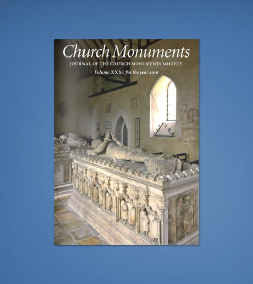 CHURCH MONUMENTS VOLUME XXXI 2016
