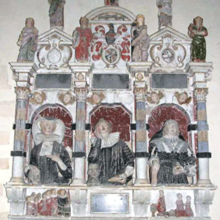 Doctor James Vaulx and his two wives Editha and Philip St Mary's Church Meysey Hampton 01