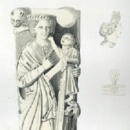 Fig 2 Etching by B Howlett from a drawing by Charles Stothard published in the latters Monumental Effigies 1827