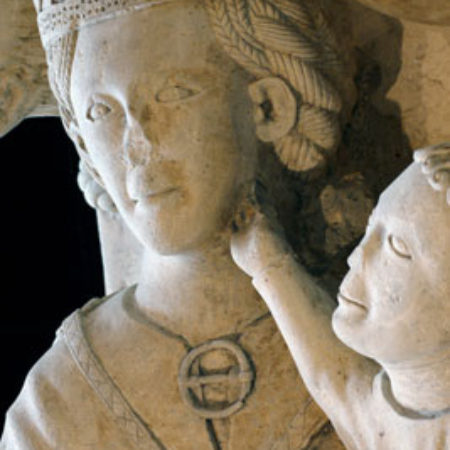 Fig 6 John's right hand touches his mother's cheek in a typical tender gesture also found on medieval Madonnas