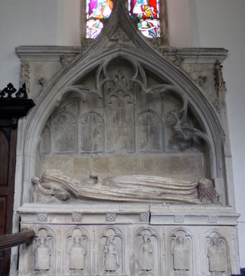 Fig 1 General view of tomb monument to Lady Clinton