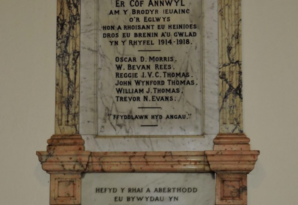 Figure 1 Tabernacl war memorial