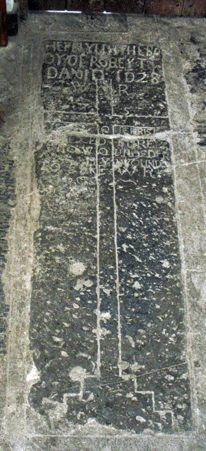 Llancarfan and Carisbrooke some thoughts on a seventeenth century cross slab in the Vale of Glamorgan