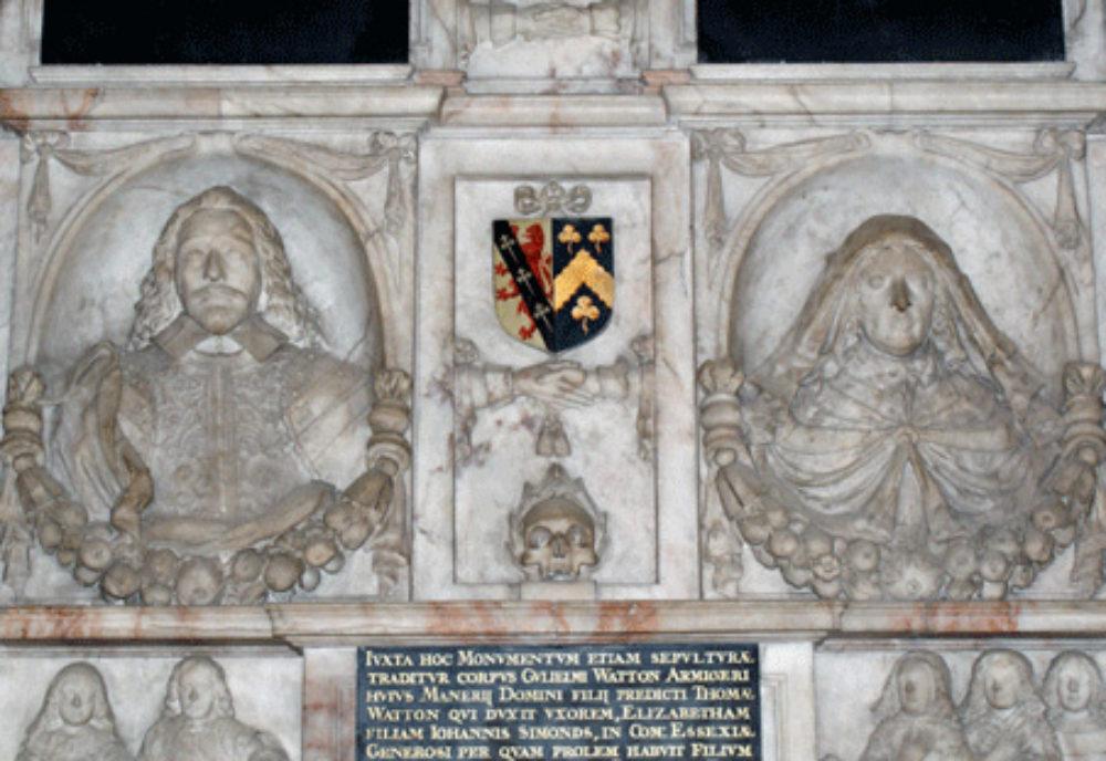 Monument to the Watton family erected 1651 Addington Kent 02