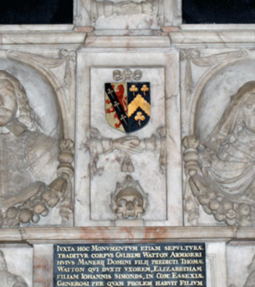 Monument to the Watton family erected 1651 Addington Kent 02